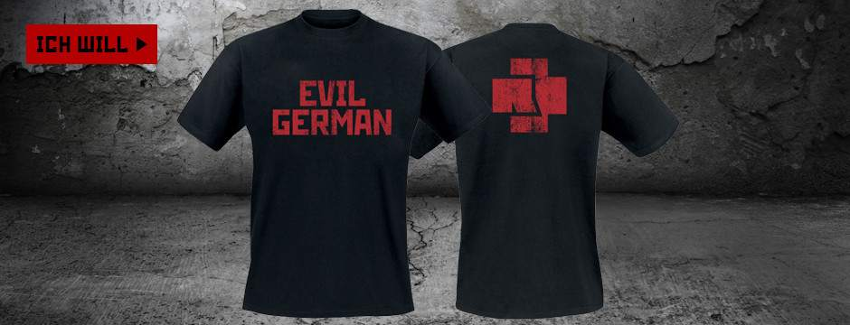 "Men's ""Evil German"" Rammstein T-Shirt"