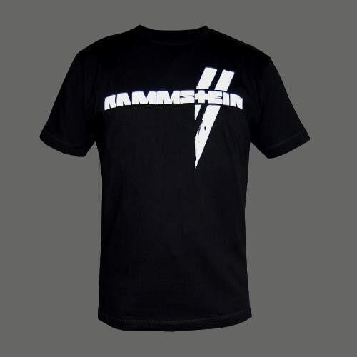 Men S Black Weisse Balken Rammstein T Shirt Rammstein Shop