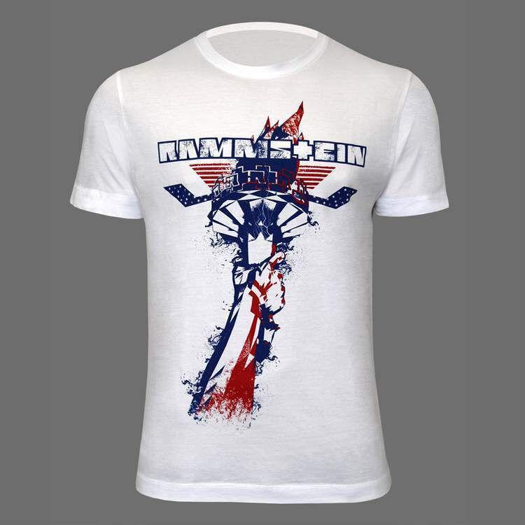 Men S Fackel Rammstein T Shirt White Rammstein Shop