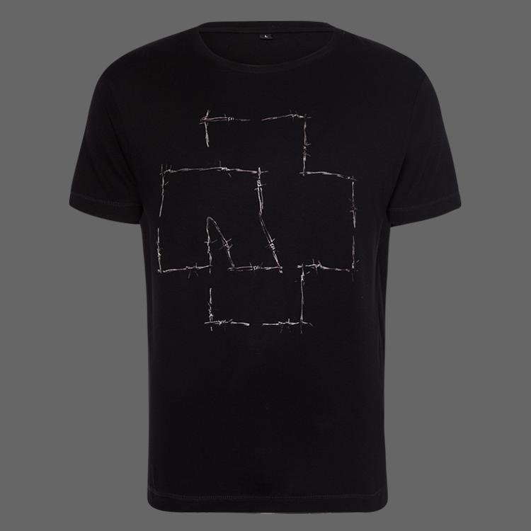 Men S Stacheldraht Logo Rammstein T Shirt Rammstein Shop